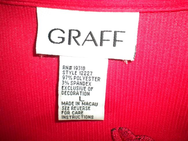 Graff Embroidered Long Sleeve Button Front Medium Weight Shirt Button Down Shirt Red Image 5