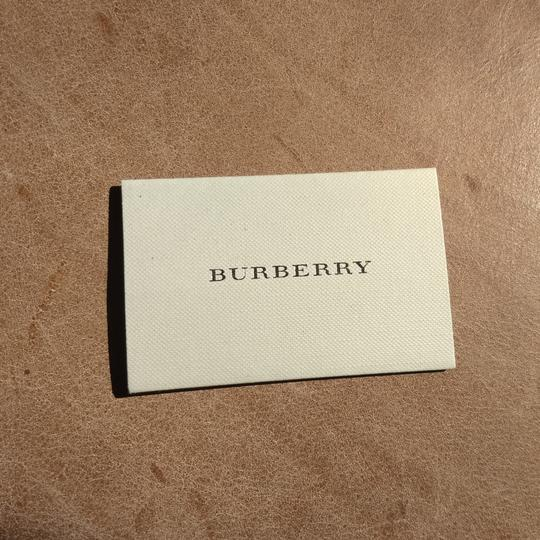 Burberry Bu9019 men's large check leather strip white dial Image 10