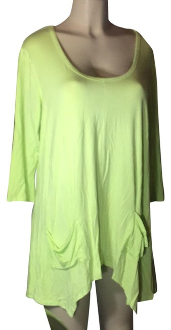 Preload https://img-static.tradesy.com/item/23692015/grace-elements-lime-green-sexy-blouse-size-14-l-0-1-650-650.jpg