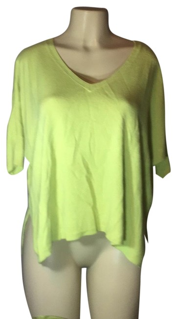 Preload https://img-static.tradesy.com/item/23692093/sweet-romeo-lime-green-sexy-flowing-blouse-size-10-m-0-1-650-650.jpg