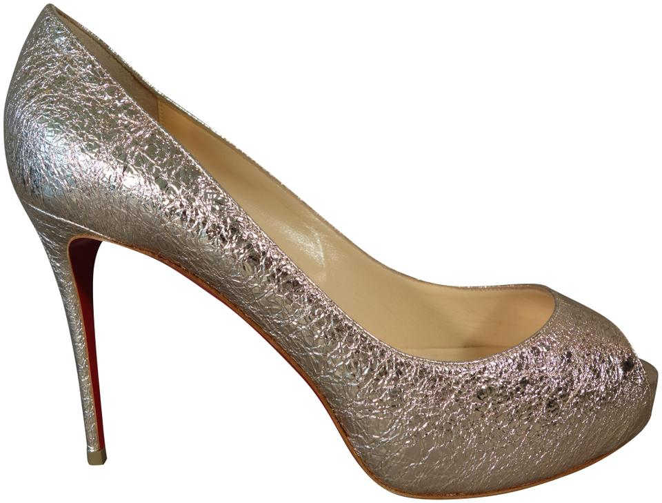 check out 2872a 76344 Christian Louboutin Rose Gold New Very Prive 100 Textured Leather Hidden  Peep Toe Pumps New Platforms Size EU 39 (Approx. US 9) Regular (M, B) 26%  off ...