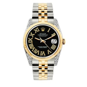 Rolex 36MM ROLEX DATEJUST GOLD STAINLESS STEEL