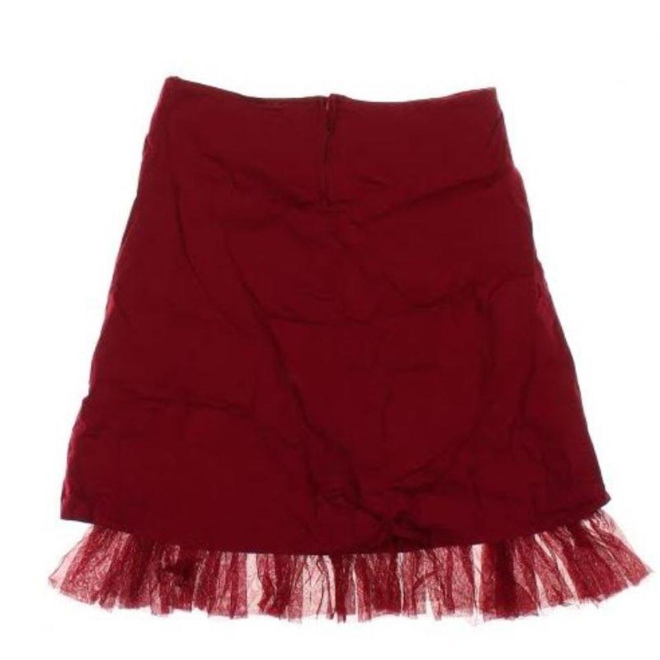 99f45a5e63 Charlotte Russe Red With Toole Skirt Size 12 (L, 32, 33) - Tradesy