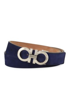 Salvatore Ferragamo Ferragamo Women's Royal Blue Suede Belt 5544/16 Size: 105/42
