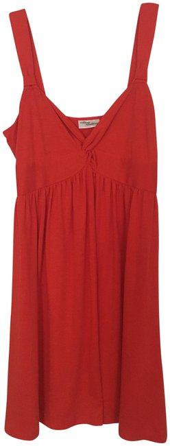 Item - Orange Sundress Short Casual Dress Size 16 (XL, Plus 0x)
