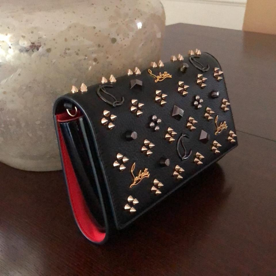 Multimetal Black Christian Paloma Clutch Louboutin Leather q8WPwZt