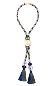 Tory Burch Long Gemini Rope Necklace, NWT, $395