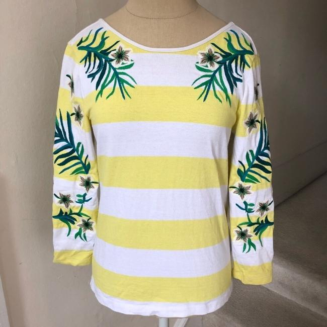 Juicy Couture T Shirt yellow and white Image 1