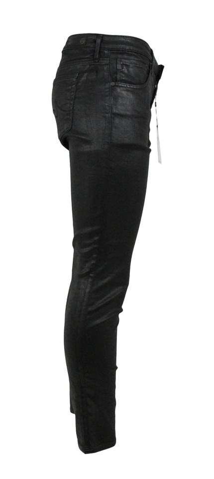 86bbbd7c68b8f9 AG Adriano Goldschmied Black Coated Skinny Faux Leather Pants Jeggings Size  8 (M, 29, 30) - Tradesy
