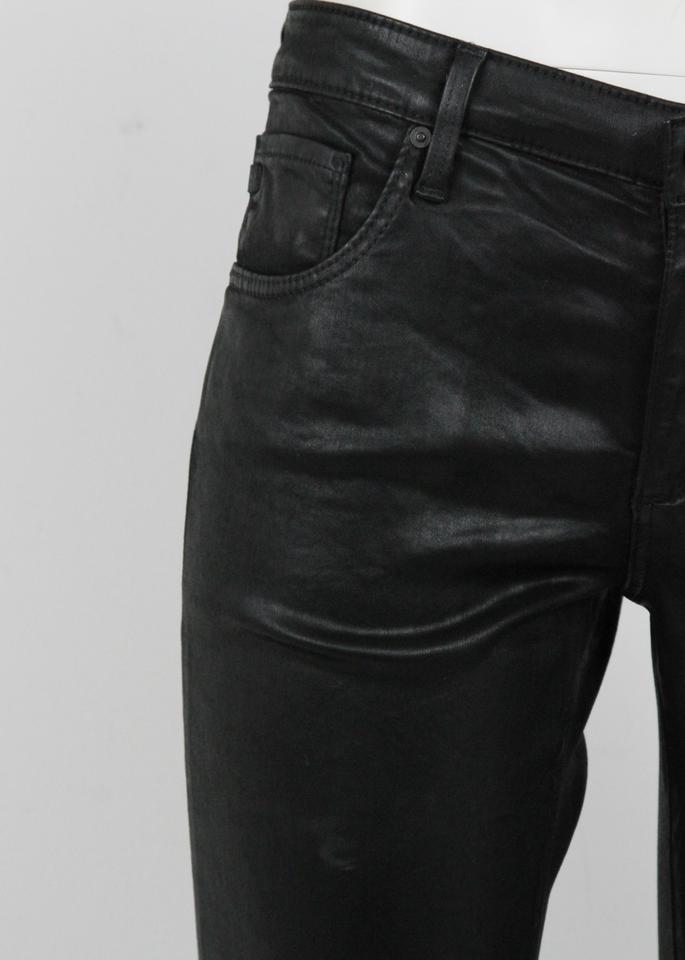 cf429dfcf267a9 AG Adriano Goldschmied Black Coated Skinny Faux Leather Pants ...