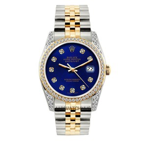 Rolex 2CT 36MM ROLEX DATEJUST GOLD STAINLESS WITH BOX & APPRAISAL