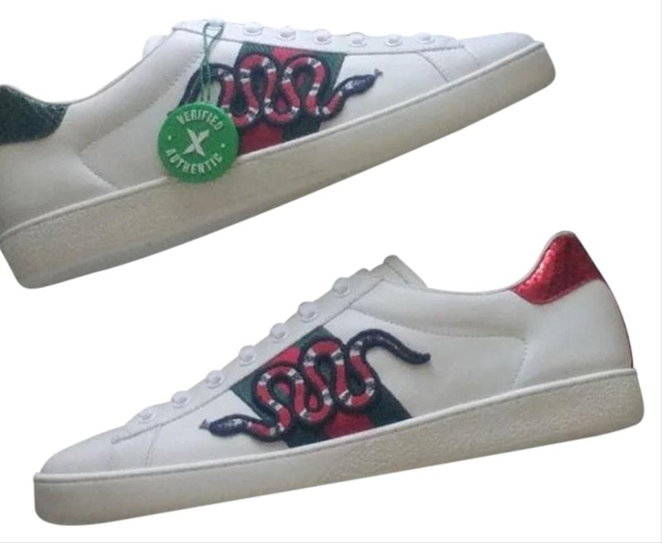 f712df4040bf Gucci New Ace Men s Snake Sneakers Size US 9 Regular (M