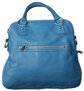 Talbots Leather Pebbled Satchel in Blue
