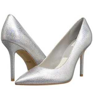 Dolce Vita Silver Pebbled Leather Mules