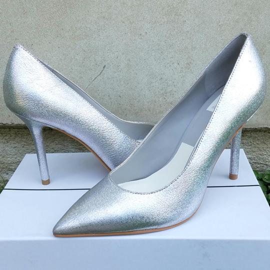 Dolce Vita Silver Pebbled Leather Mules Image 3