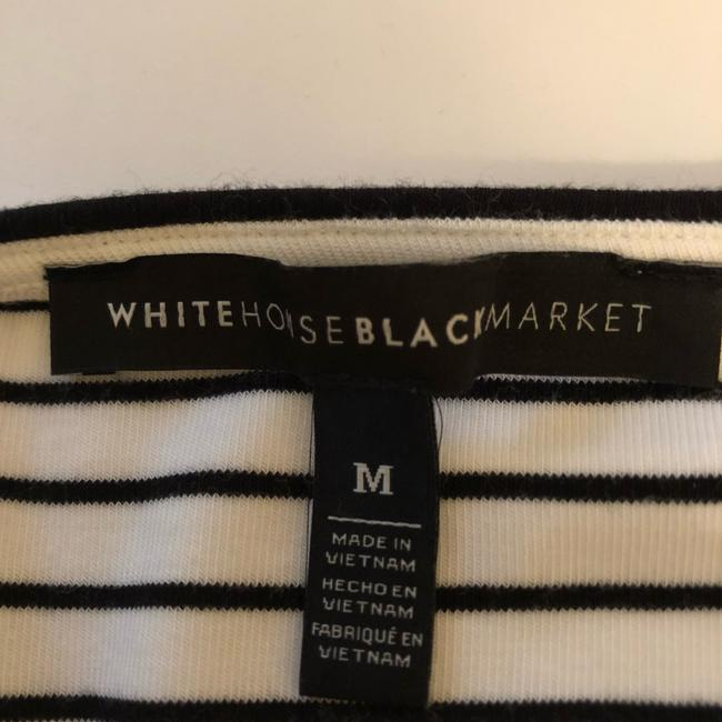 White House | Black Market Top Black and off-white Image 4