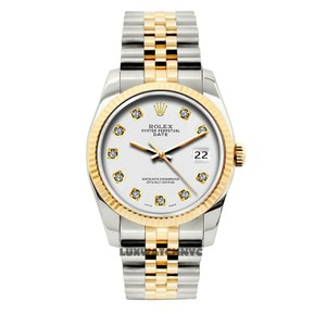 Rolex 34MM ROLEX DATE GOLD STAINLESS STEEL WITH BOX & APPRAISAL