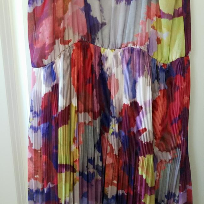 multicolored Maxi Dress by Guess Hi Lo Sundress Sheer Floral Elastic Image 5
