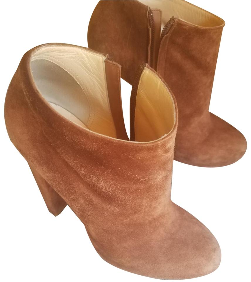 Louboutin Booties Brown Christian and Boots Rock Gold Suede AdUcwCqxp