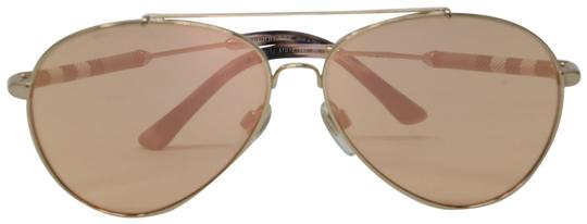 Burberry Unisex Aviator Mirrored Lenses with Gold Metal Frame Sunglasses Image 0