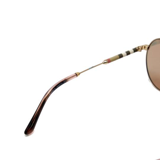 Burberry Unisex Aviator Mirrored Lenses with Gold Metal Frame Sunglasses Image 8
