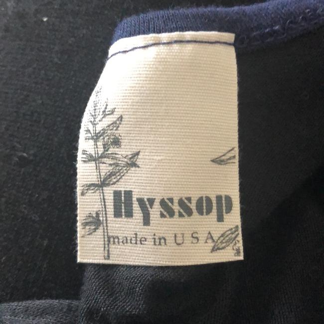 Hyssop Top Black with Blue Trim Image 4
