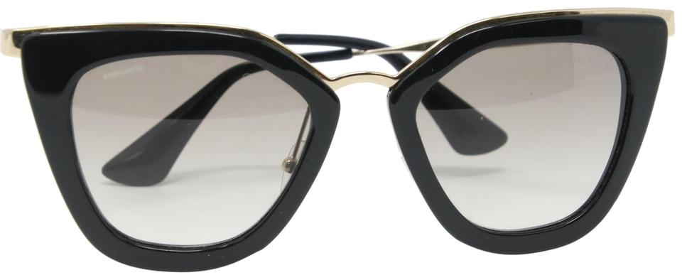 afda48d9b1c Prada Black Classic Cat-eye Cinema Gold Frame Wire Sunglasses - Tradesy