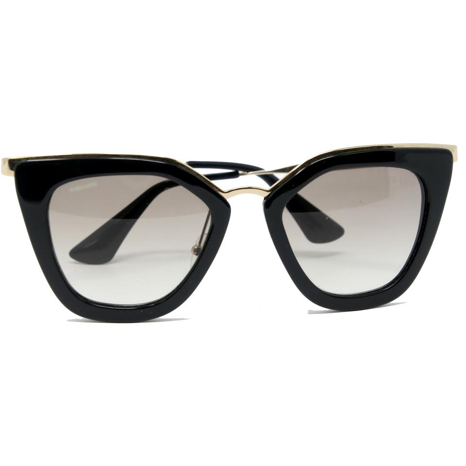 6404a91f557 Prada black classic cat eye cinema gold frame wire sunglasses tradesy jpg  960x960 Gold wire frame