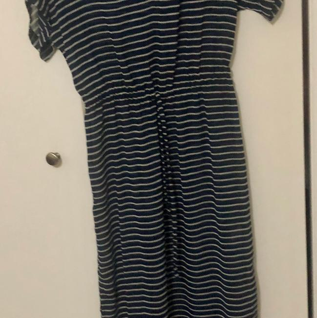 navy and white Maxi Dress by J.Crew Image 1
