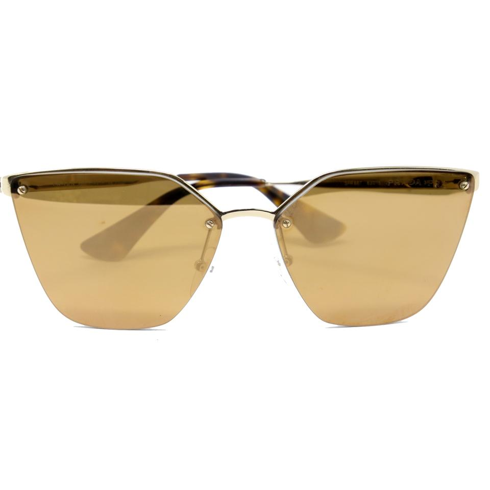 95f5288209 Prada Multicolor Classic Cat-eye Gold Wire Frame Mirrored Lens Sunglasses
