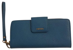Fossil blue Clutch