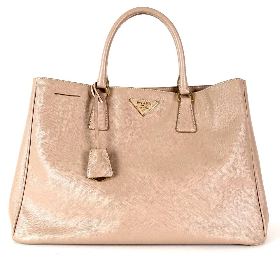 Prada Lux Medium Saffiano Beige Leather Tote - Tradesy 133724d2d7f67