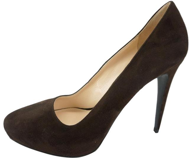 Item - Brown Suede Leather High Heel Almond Toe Pumps Platforms Size EU 40 (Approx. US 10) Regular (M, B)