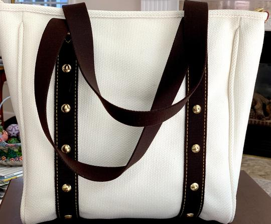 Louis Vuitton Cabas Antigua Toile Tote in ivory/brown Image 3
