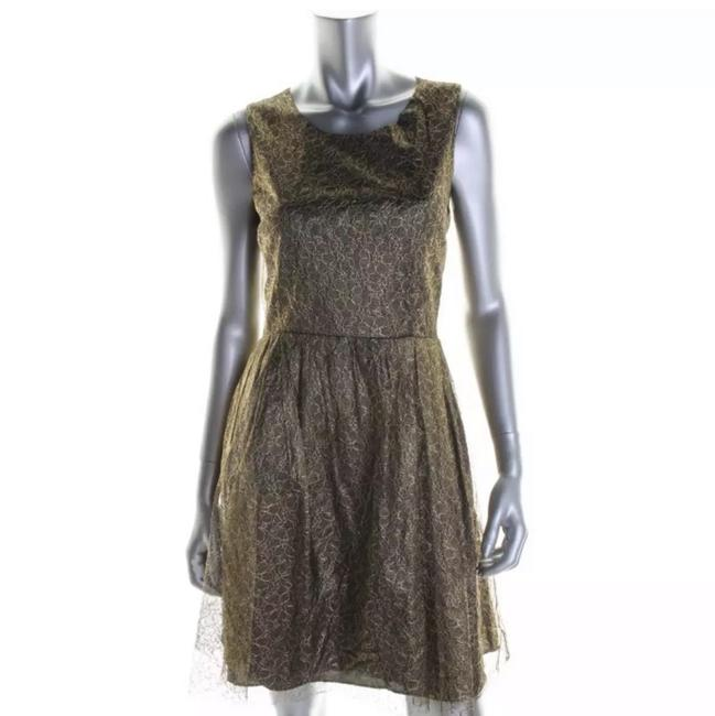 Preload https://img-static.tradesy.com/item/23693188/erin-fetherston-gold-and-black-short-cocktail-dress-size-2-xs-0-0-650-650.jpg