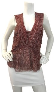 Isabel Marant Silk Chiffon Summer Top Red