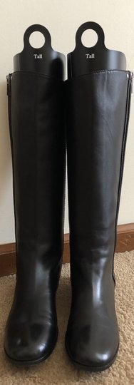 Saint Laurent Knee High Leather Yves Soft Black Boots Image 2