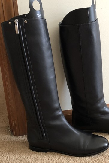 Saint Laurent Knee High Leather Yves Soft Black Boots Image 7