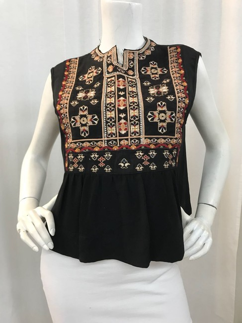 Isabel Marant Embroidered Crop Summer Top