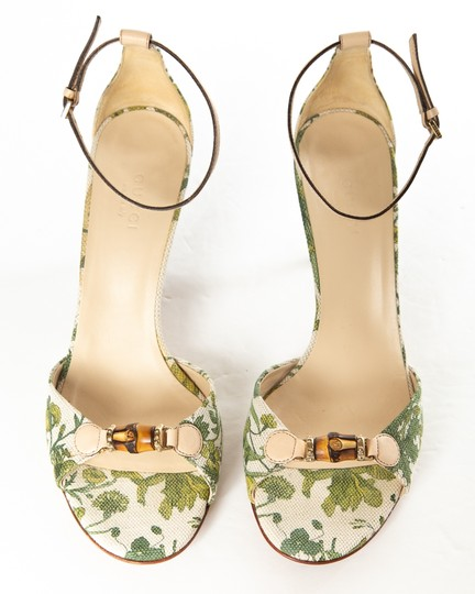 Gucci white & green Sandals