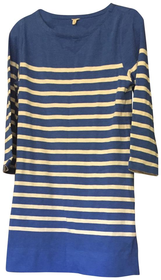 Casual and Nautical White J Blue Crew Dress PqFOcEXc