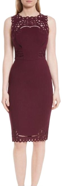 Preload https://img-static.tradesy.com/item/23693369/ted-baker-maroon-64-verita-cutout-yoke-sheath-mid-length-cocktail-dress-size-6-s-0-2-650-650.jpg