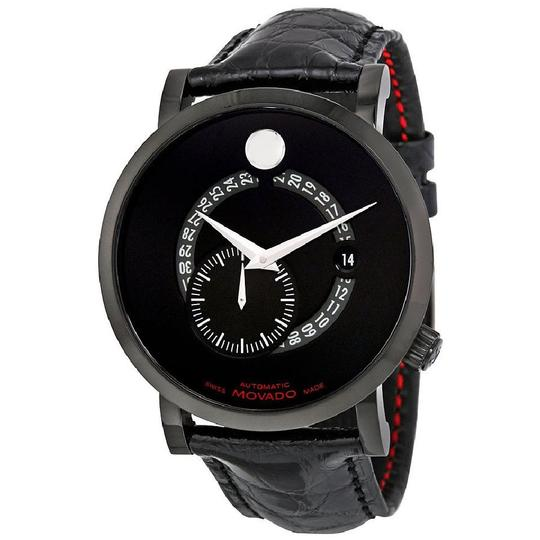 Preload https://img-static.tradesy.com/item/23693459/movado-black-red-label-date-chronograph-dial-men-s-leather-watch-0-2-540-540.jpg