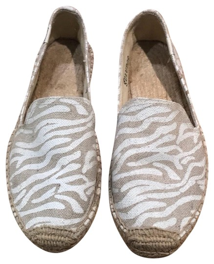 Soludos white and tan Flats