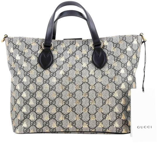 Preload https://img-static.tradesy.com/item/23693599/gucci-gg-supreme-bees-canvasleather-trim-black-coated-canvas-tote-0-1-540-540.jpg