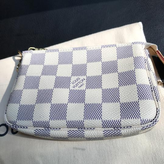Louis Vuitton Wristlet in Damier Azur
