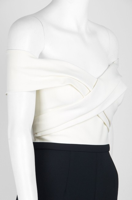 Theia Color-blocking Off The Shoulder Dress