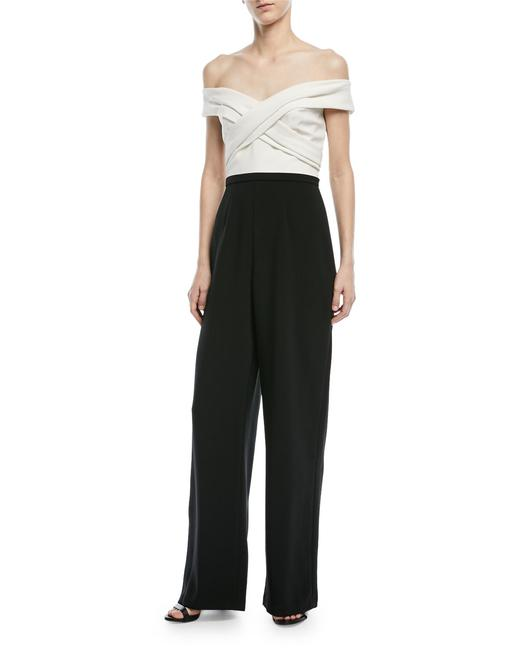 Preload https://img-static.tradesy.com/item/23693732/theia-black-and-white-crisscross-colorblock-off-the-shoulder-long-romperjumpsuit-size-12-l-0-0-650-650.jpg