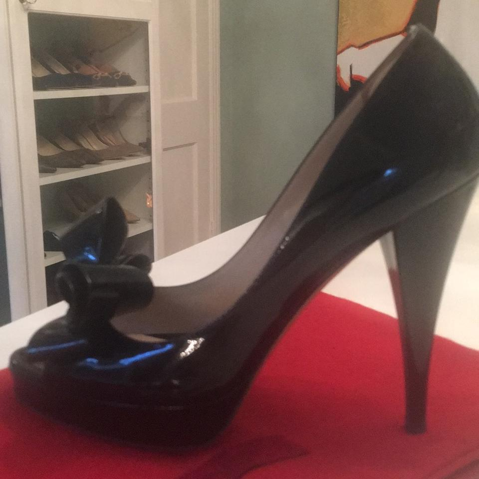 Pumps Leather Patent Black Garavani Valentino n4vp7I