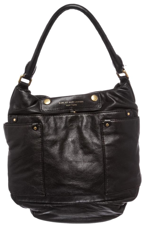 54a7ce73d996 Marc by Marc Jacobs Satchel Black Leather Hobo Bag - Tradesy